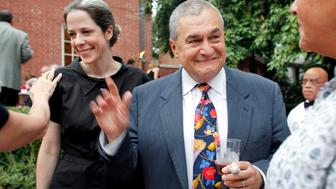 WASHINGTON DC-August 2, 2011:  Heather and Tony Podesta (Chairman Podesta Group) attended the intimate 'Summer Chic' barbeque at Esther Coopersmith's DC home to celebrate the recent marriage of lawyer Jack Einwechter to Congresswoman Loretta  Sanchez (D-CA))  (Photo by Rebecca D'Angelo/For the Washington Post)