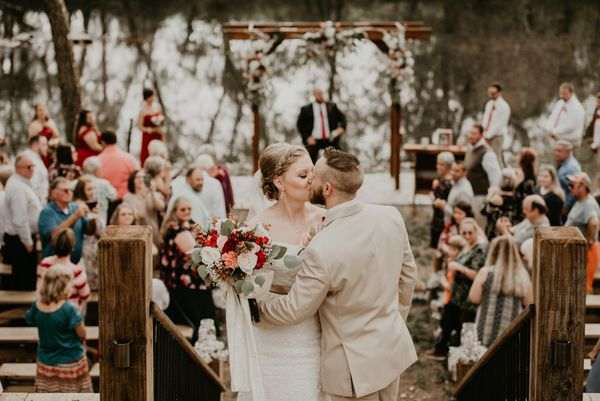 """Chris and Bethanie Rose had a gorgeous fall wedding at Hiwassee River Weddings and Events."" -- <i>Autumne Shultz <"