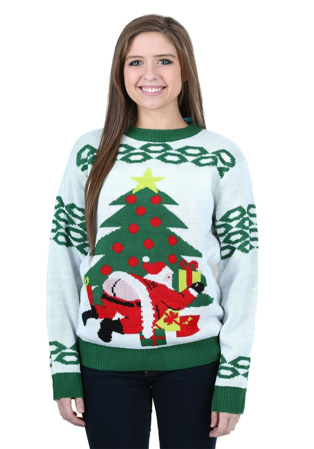 Dinosaur Christmas Sweater.You Ll See Santa S Butt On A Lot Of Ugly Christmas Sweaters