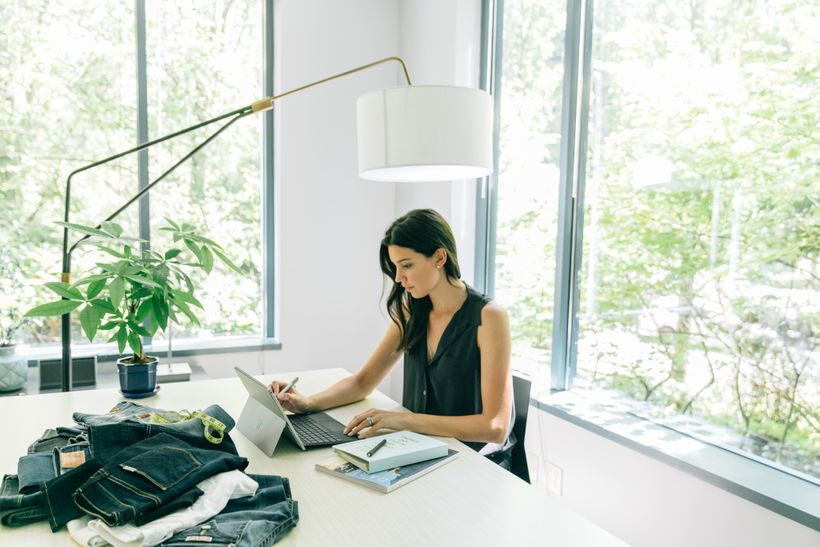 Fitcode CEO and Co-Founder Rian Buckley at work in the Fitcode office in Kirkland, Washington.