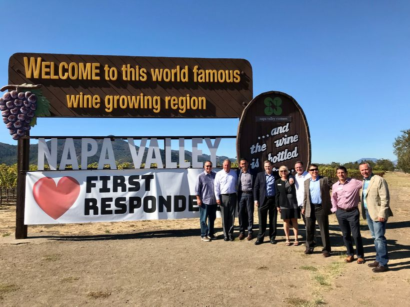 The interior of the charming Napa Valley was not harmed by the recent wildfires and is open for business