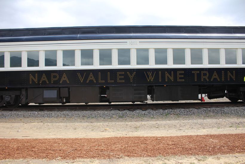 The Napa Valley Wine Train is running on schedule