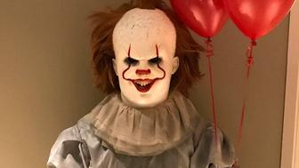 LeBron James dressed as Pennywise the dancing clown for Halloween