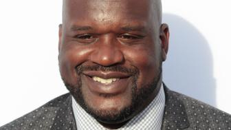 Shaquille O'Neal arrives at the Comedy Central Roast of Justin Bieber on March 14, 2015 in Los Angeles, California. Francis Specker /Landov
