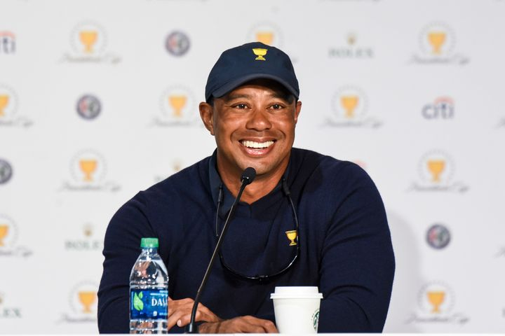 Woods, pictured on Oct. 1, thanked his fans for sticking by him during his back injury.