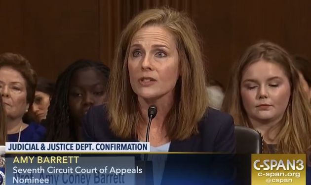 Abortion rights groups and LGBTQ rights groups tried, unsuccessfully, to sink Amy Coney Barrett's