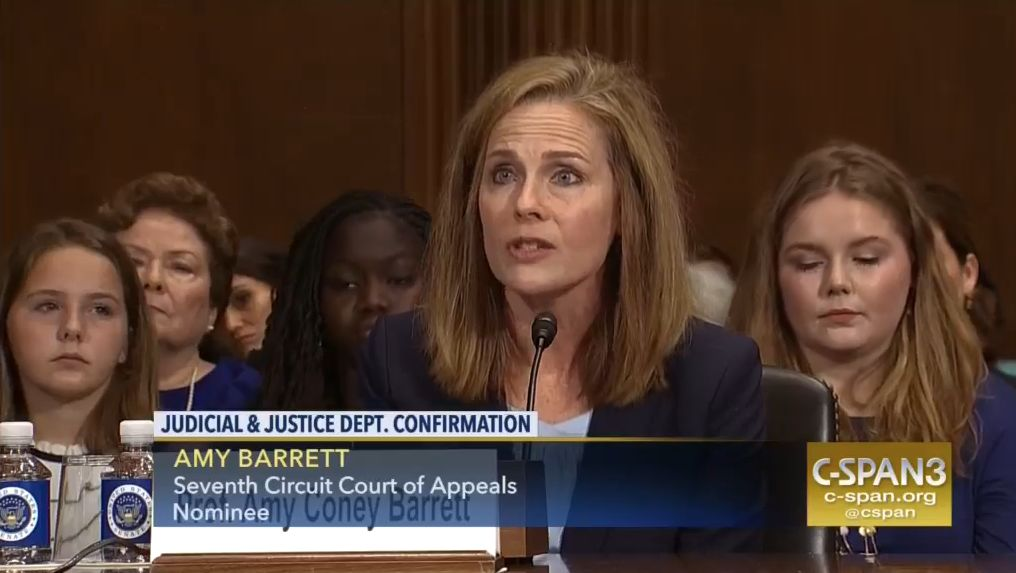 New U.S. Court of Appeals Judge Amy Coney Barrett has questioned the precedent of Roe v. Wade.
