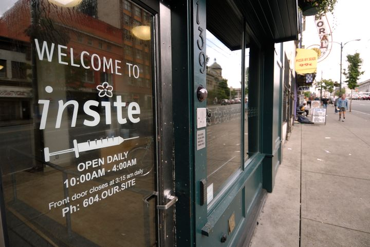 Insite, a safe injection site in Vancouver, Canada, on Aug. 29, 2006.