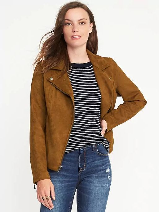 """Old Navy's sueded-knit moto jacket is <a href=""""http://oldnavy.gap.com/browse/product.do?cid=74688&amp;pcid=55474&amp;vid=1&am"""