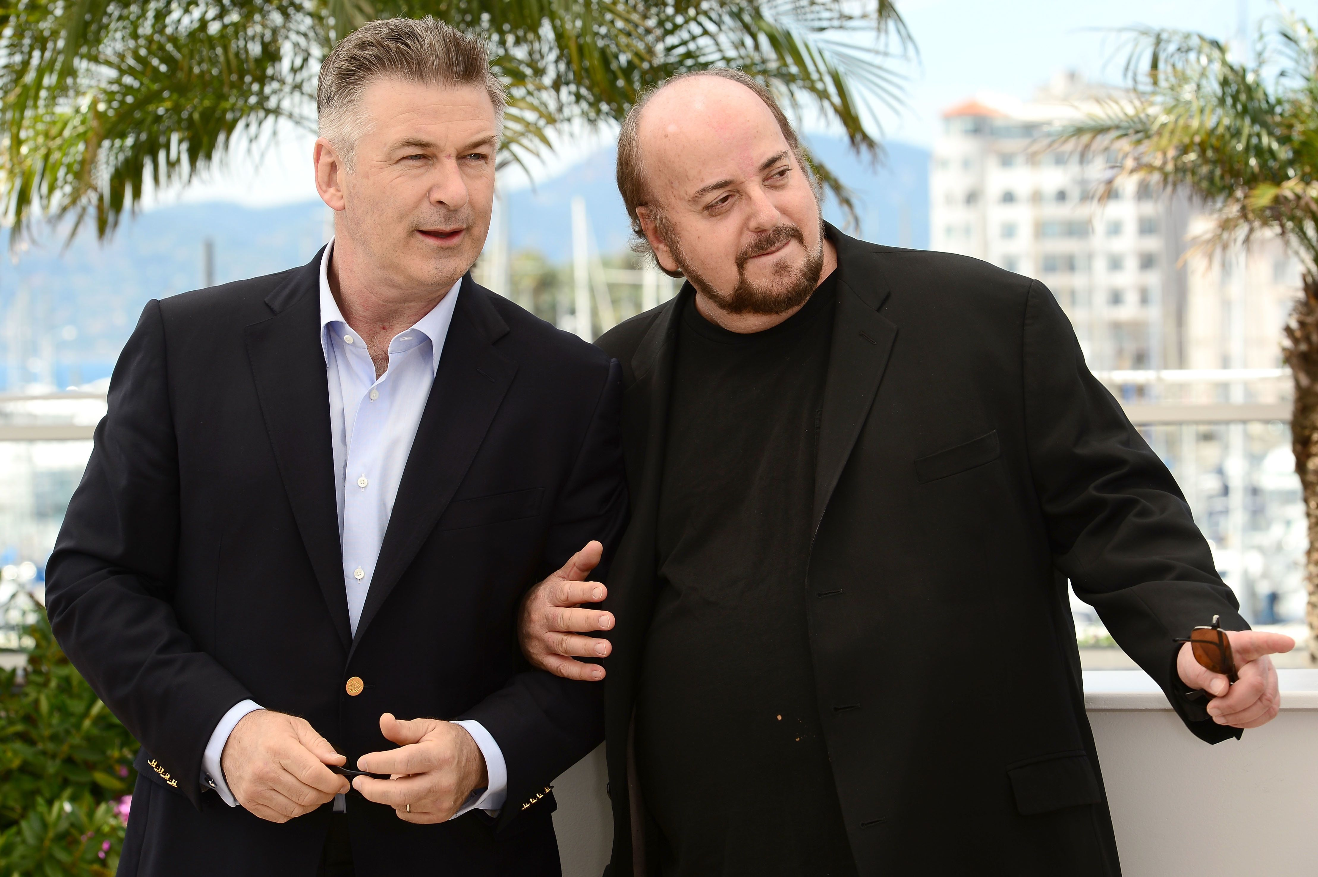 CANNES, FRANCE - MAY 21:  Actor Alec Baldwin and director James Toback attend the photocall for 'Seduced and Abandoned' during The 66th Annual Cannes Film Festival at Palais des Festivals on May 21, 2013 in Cannes, France.  (Photo by Dominique Charriau/WireImage)