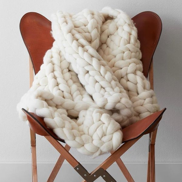 """Prices under $400.<a href=""""https://www.the-citizenry.com/products/nublado-chunky-knit-throw"""" target=""""_blank""""> Check out The C"""