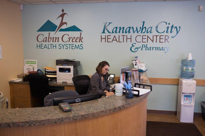 The waiting room of the Cabin Creek clinic in the Kanawha Cityneighborhood ofCharleston.