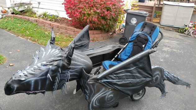 For Halloween, Massachusetts dad Tom Hardy turned his son's wheelchair into a