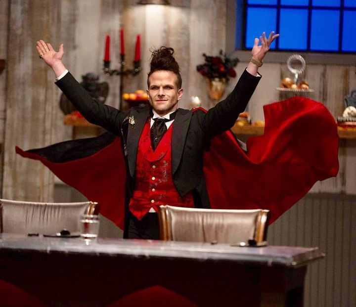 """<p> """"Halloween Baking Championship was the most fun I've had in my life, because it's sweets and costumes! When they called me for it, I said yes before they even finished a sentence!"""" - Zac Young </p>"""