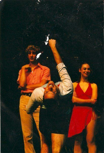 <p>Zac back in his theater days, working a chorus line</p>