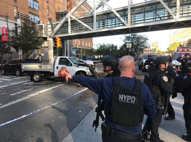 Note found in truck claims Manhattan attack done for ISIS, source says