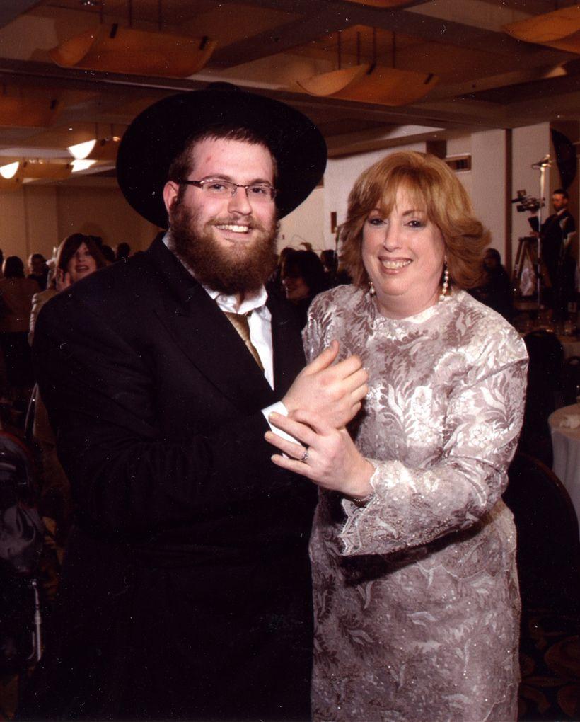 My mom celebrating my marriage to Chavie