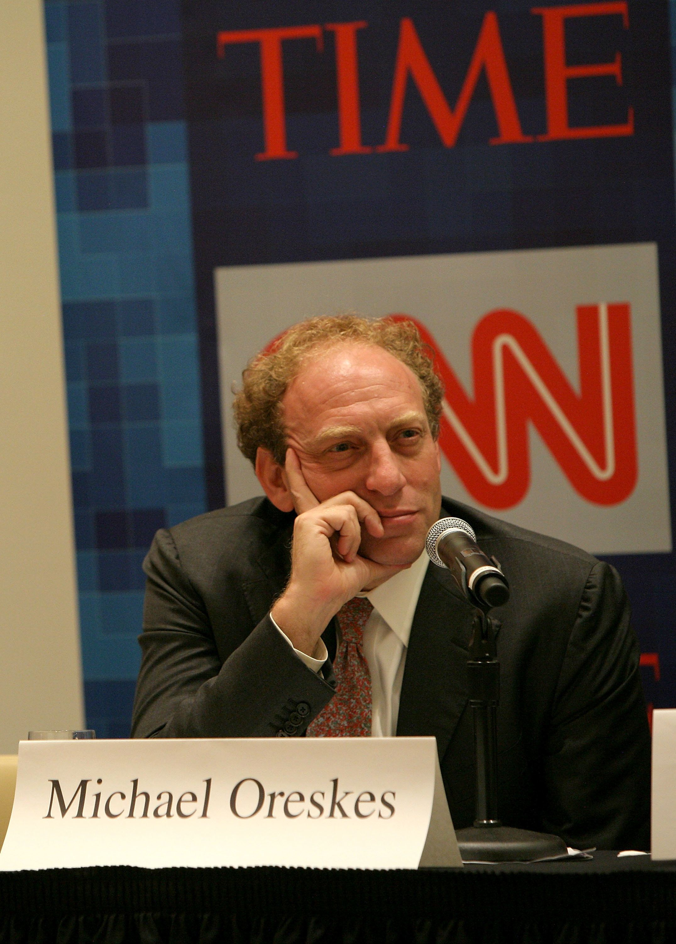 NEW YORK - OCTOBER 13:  Managing Editor of U.S. News for Associated Press Michael Oreskes speaks during Time Warner's Political Conference 2008 at the Time Warner Center on October 13, 2008 in New York City.  (Photo by David S. Holloway/Getty Images for Turner)