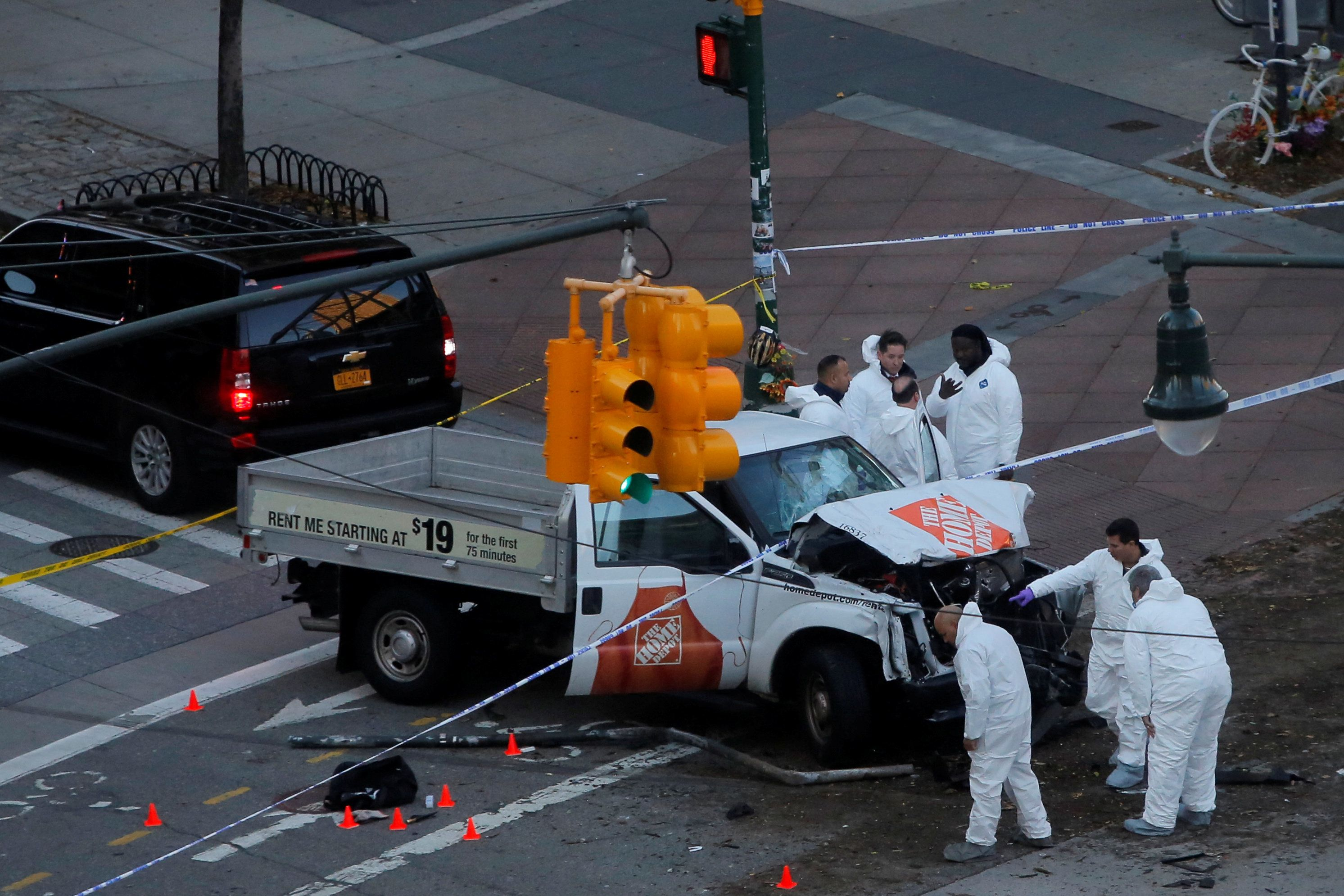 Photos From The Scene Of The Deadly Truck Attack In New York