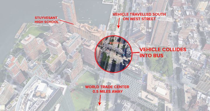 The locale of the New York City attack.