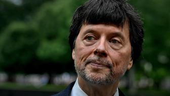 WASHINGTON DC -MAY 28: Documentary filmmaker Ken Burns has completed a new film about the history of the Vietnam War. He stands just yards from the Vietnam Veterans Memorial Wall. (Photo by Michael S. Williamson/The Washington Post via Getty Images)
