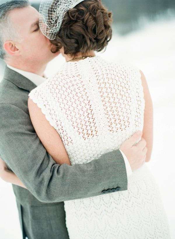 """""""This was my second marriage. My first husband died, and I knit heavy sweaters throughout his illness. I felt it was fitting"""
