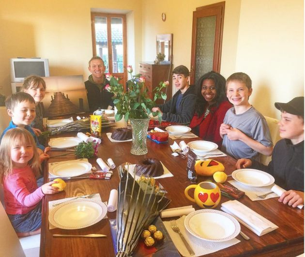 Dining at home in Artena,