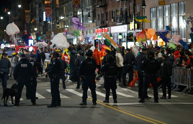The annual Halloween parade in Greenwich Village brought more of a police presence. The mayor and governor...