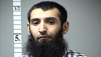 This handout photograph obtained courtesy of the St. Charles County Dept. of Corrections in the midwestern US state of Missouri on October 31, 2017 shows Saifullah Saipov, the suspectecd driver who killed eight people in New York on October 31, 2017, mowing down cyclists and pedestrians, before striking a school bus in what officials branded a 'cowardly act of terror.'   Eleven others were seriously injured in the broad daylight assault and first deadly terror-related attack in America's financial and entertainment capital since the September 11, 2001 Al-Qaeda hijackings brought down the Twin Towers. In April of 2016 a warrant was issued in Missouri for his failure to pay a traffic citation.   / AFP PHOTO / St. Charles County Dept. of Corrections / == RESTRICTED TO EDITORIAL USE  / MANDATORY CREDIT:  'AFP PHOTO /  ST. CHARLES COUNTY DEPT. OF CORRECTIONS' / NO MARKETING / NO ADVERTISING CAMPAIGNS /  DISTRIBUTED AS A SERVICE TO CLIENTS  ==         (Photo credit should read ST. CHARLES COUNTY DEPT. OF CORR/AFP/Getty Images)