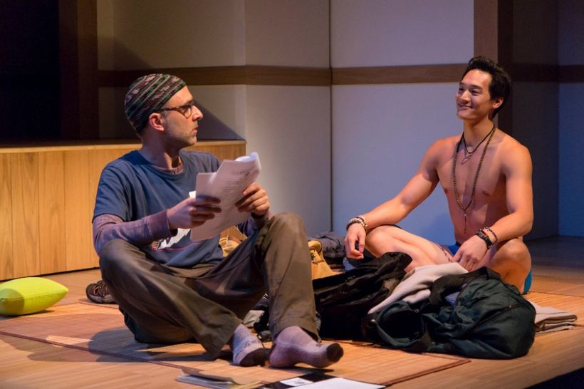 Ned (Ben Beckley) and Rodney (Edward Chin-Lyn) get acquainted in a scene from<strong><em>Small Mouth Sounds</em></strong>
