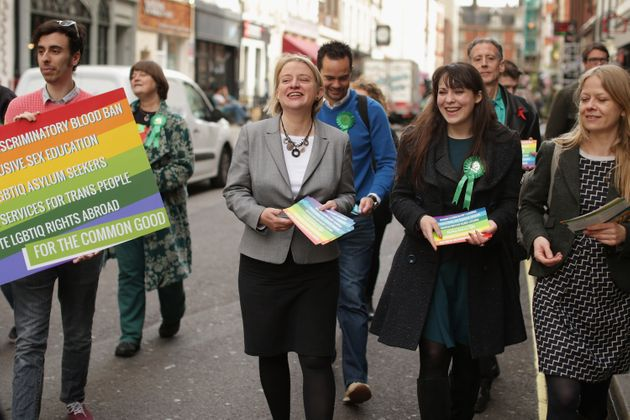 Greens deputy leader Amelia Womack (right) with former party leader Natalie