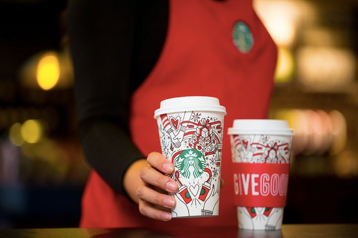 """Considering Starbucks likes to drum up excitement around the<a href=""""https://www.huffingtonpost.com/topic/pumpkin-spice-latte"""" target=""""_blank"""">Pumpkin Spice Latte</a>in<a href=""""https://www.huffingtonpost.com/entry/pumpkin-spice-lattes-are-back-this-month-but-theres-a-catch_us_598c86dde4b0d793738d39c2"""" target=""""_blank"""">August</a>, it's exciting the company waited until Nov. 1 to bring back the cups and beverages."""