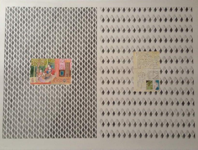 EDGE Noor Mahnun - Postcard from Delhi 2017 [57cm x 76cm] graphite and watercolour in paper