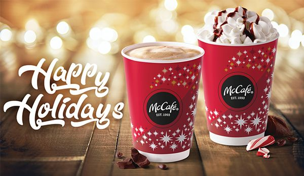 Peppermint Mocha and Peppermint Hot Chocolate are back at McDonald's today.