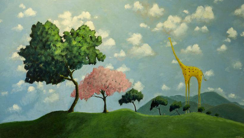 Yusof Majid, <em>The Tryst</em>, Oil on Canvas. 2016. At Nadine Fine Art