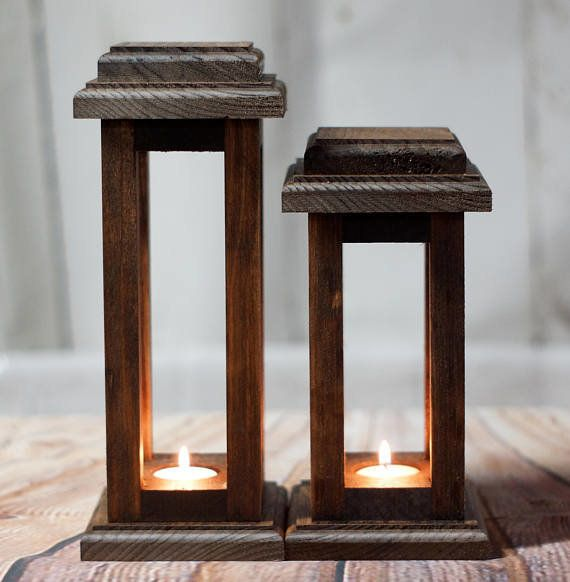 "These <a href=""https://www.etsy.com/listing/480988173/reclaimed-wood-lanterns-rustic?ga_order=most_relevant&ga_search_typ"