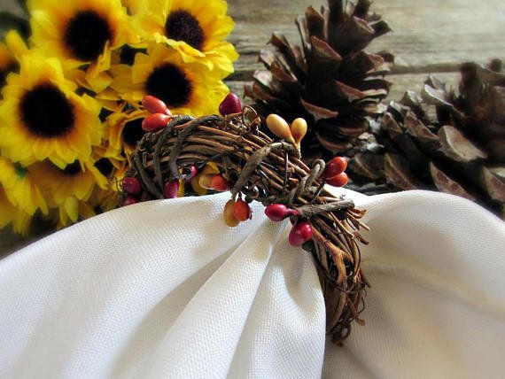 "These <a href=""https://www.etsy.com/listing/168382193/thanksgiving-napkin-rings-pip-berry?ga_order=most_relevant&ga_searc"