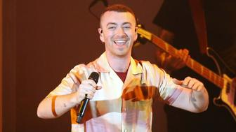 HOLLYWOOD, CA - OCTOBER 21:  Sam Smith performs onstage during the CBS Radio presents 5th Annual 'We Can Survive' concert held at the Hollywood Bowl on October 21, 2017 in Hollywood, California.  (Photo by Michael Tran/FilmMagic)