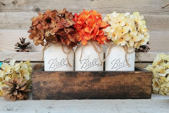 "Add a touch of country living to your uban space with <a href=""https://www.etsy.com/listing/252148601/fall-table-centerp"