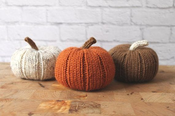 "Scatter these <a href=""https://www.etsy.com/listing/222427648/fall-decor-stuffed-pumpkins-knit?ga_order=most_relevant&ga_"