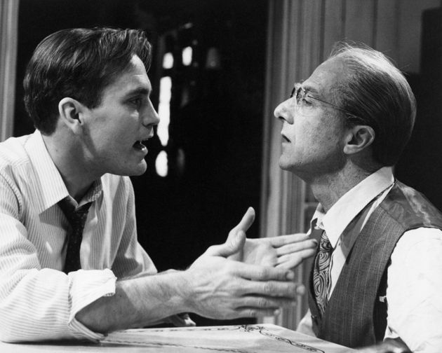 John Malkovich and Dustin Hoffman in the 1985 television movie