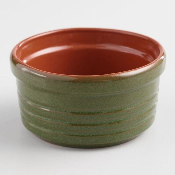 "This <a href=""https://www.worldmarket.com/product/green-reactive-glaze-terracotta-ramekin.do?sortby=ourPicks&from=Search"""