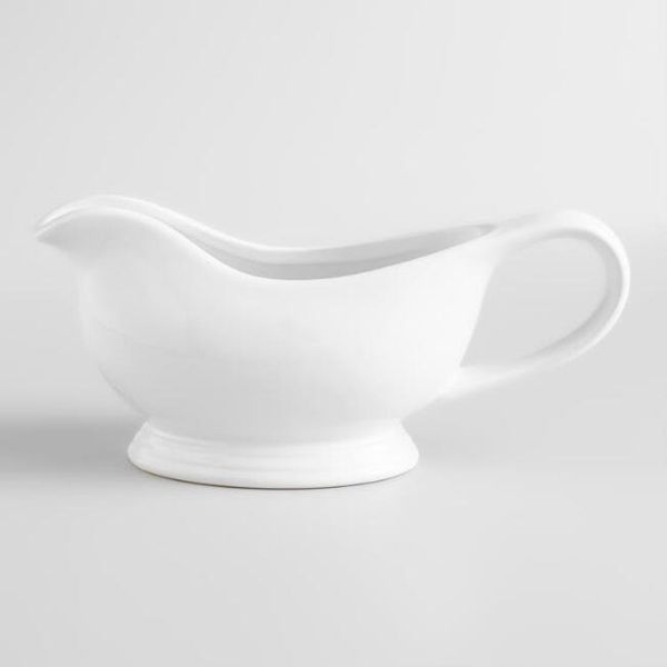 "This perfectly proportioned <a href=""https://www.worldmarket.com/product/white-gravy-boat.do?sortby=ourPicks&from=Search"""