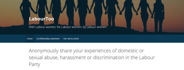 The LabourToo website is collating anonymous experiences of sexual