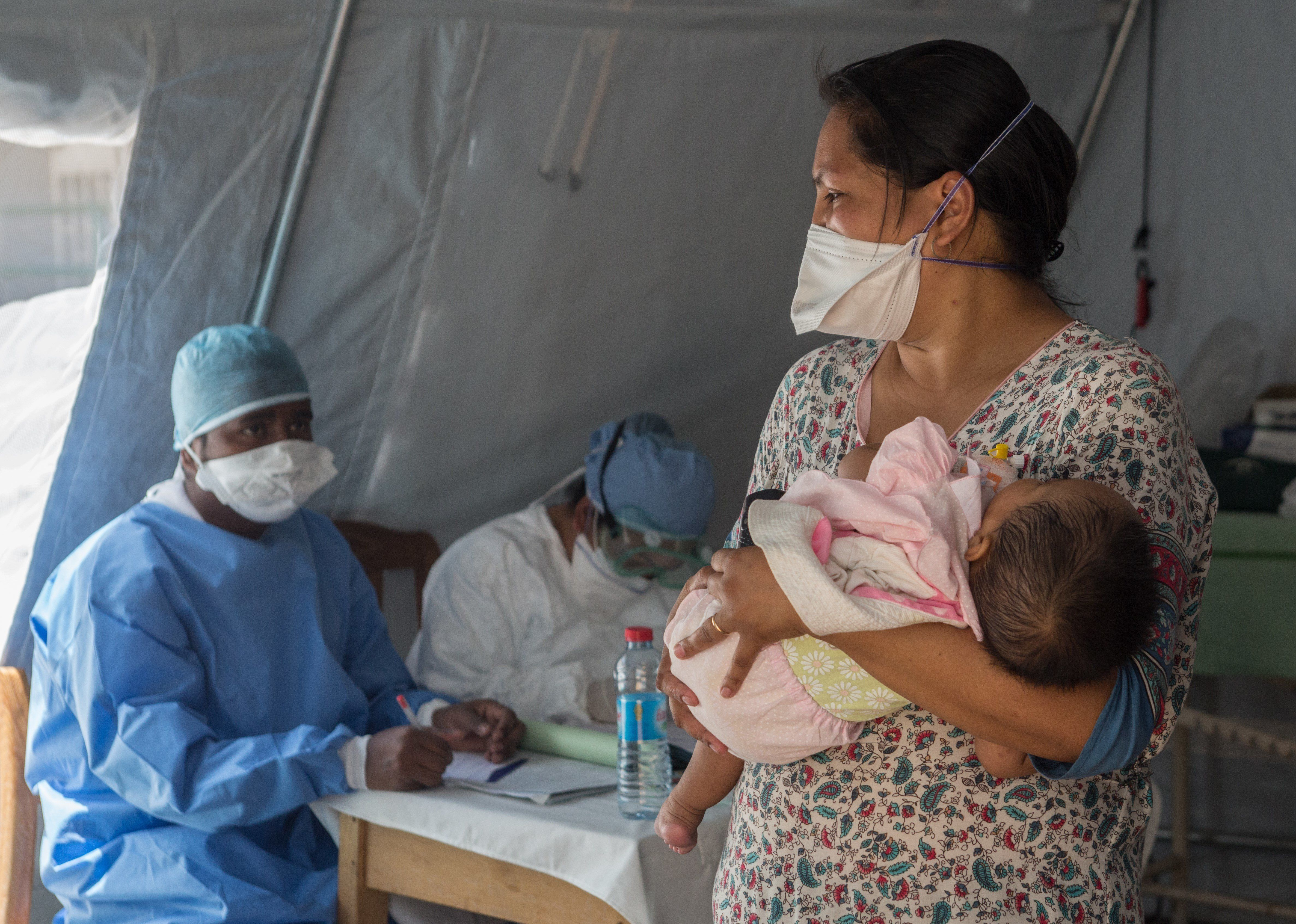 At a childrens hospital in Antananarivo a baby was tested and found to have the plague and was then taken to the specialist anti-plague hospital