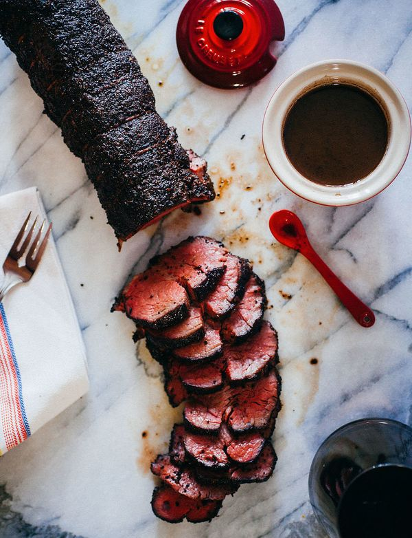 "<strong>Get the <a href=""http://www.thecrepesofwrath.com/2015/11/04/coffee-crusted-beef-tenderloin/"" target=""_blank"">Coffee-C"
