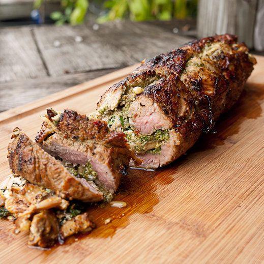 """<strong>Get the <a href=""""http://chaosinthekitchen.com/2013/11/stuffed-pork-tenderloin/"""" target=""""_blank"""">Stuffed Pork Tenderlo"""
