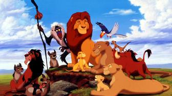 "The characters in the new animated film from the Walt Disney Company ""The Lion King"" are shown in this photograph. The film deals with the heroic struggle of a young lion named Simba (C, seated). The film opens in the United States June 15"