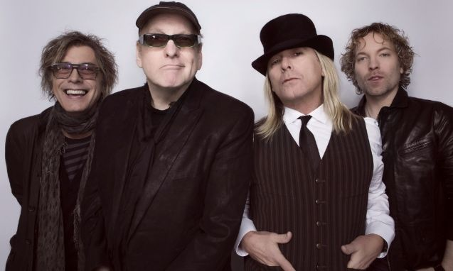 Cheap Trick (l-r): Tom Petersson, Rick Nielsen, Robin Zander, and Daxx Nielsen.