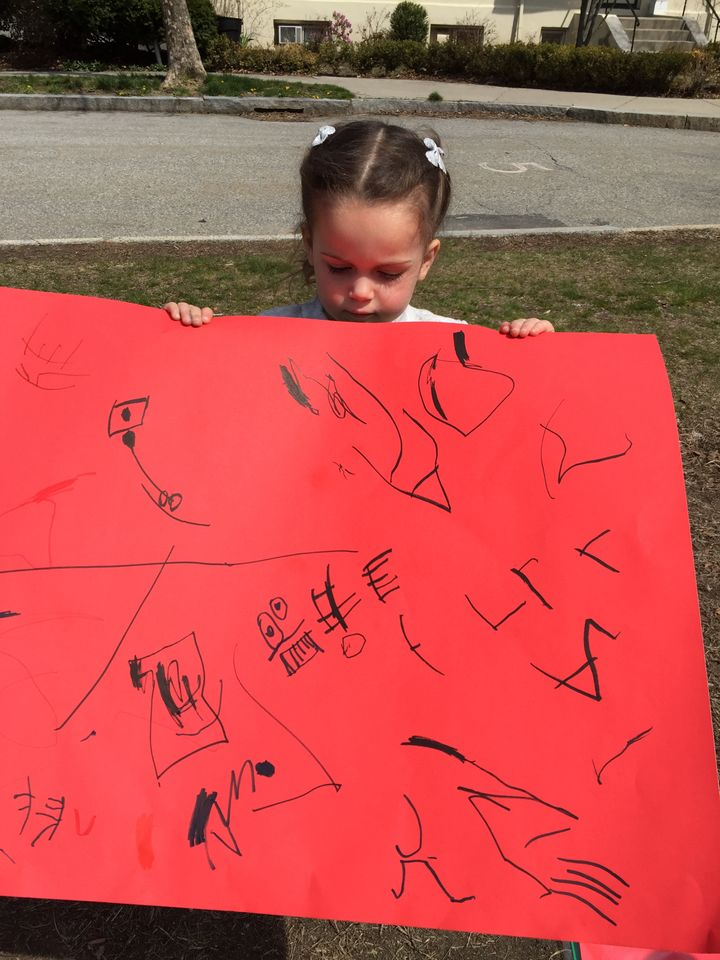 "<p>My daughter made this sign at the base of Heartbreak Hill. USA Today saw it and <a rel=""nofollow"" href=""http://ftw.usatoday.com/2016/04/boston-marathon-sign-funny-kid"" target=""_blank"">called it the best sign of the day</a> because they said it's what runners think at Mile 20. She spent at least 15 minutes working on it.  </p>"